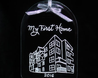 Personalized Ornament, New Home, Your Home Custom Engraved, Housewarming