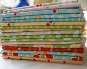 Fat Quarter Bundle RARE Out of Print Bake Sale Lori Holt Green Yellow Blue Red Baking Cherries piecesofpine