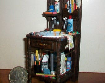 Miniature Art Studio Sink  1:12 scale