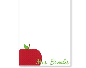 Personalized Apple Note Pad - Teacher Note Pad