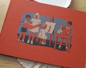 Large Vintage 1949 Hardcover Childcraft Book of Art and Music Volume 13 for Children