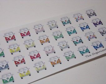 VW  Bus Stickers Great for your Erin Condren Life Planner!