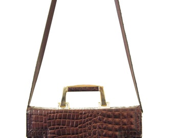 Crocodile leather Vintage Bag