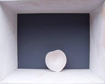 Titchy Stoneware Heart Dish in White Celadon Glaze ..Wheel thrown pot