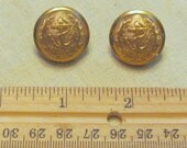 2 brass military navy buttons, 20th century