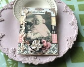 Vintage-style Baby Girl Card - Welcome New Baby Girl