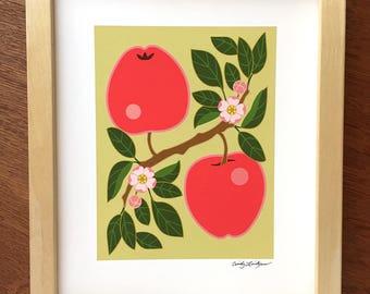 Apple Pair Art Print