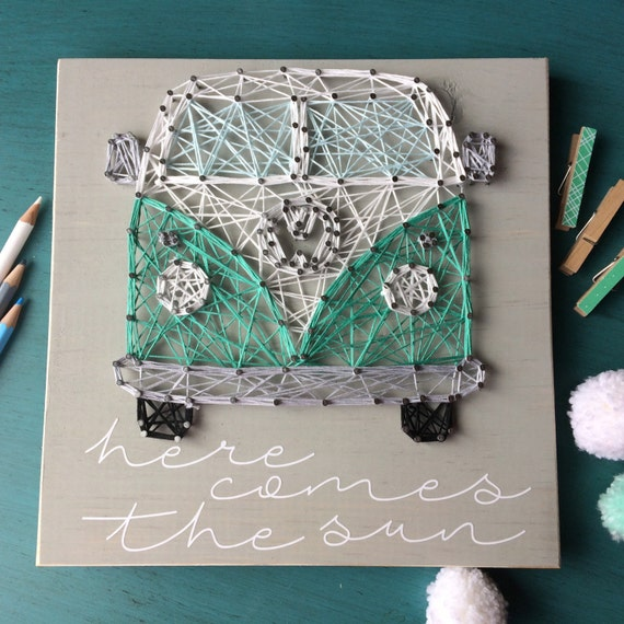 VW Bus String Art - Here Comes The Sun