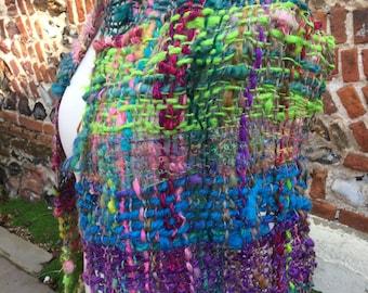 Handspun and woven shawl