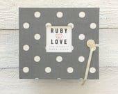 Gray Polka Dot | BABY BOOK