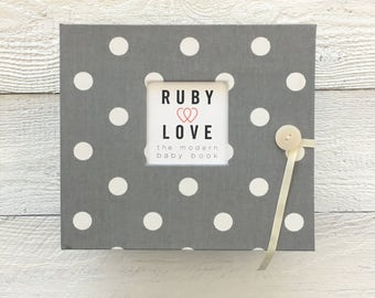 Gray Polka Dot | BABY BOOK