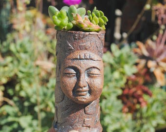 ceramic succulents planter tiny garden buddha head planter