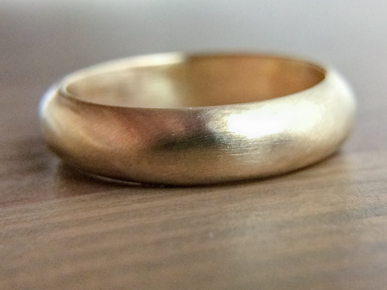 gold wedding ring 14k gold ring wedding ring 4mm gold
