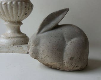 cement bunny rabbit