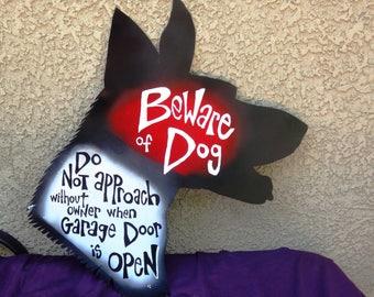 Custom Dog Head Signs: Dog Silhouette Warning Signs