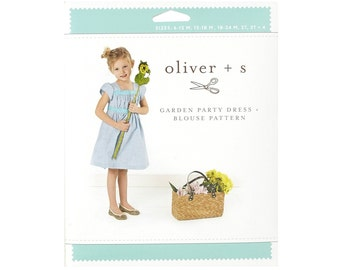 Oliver + S Garden Party Dress + Blouse sewing pattern- Sizes 6 mo- 4 yrs- CUTE!