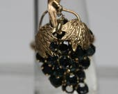 RESERVED- Vintage/Antique 9k and 10k Yellow Gold and Dark Blue Spinel Grape Cluster Ring
