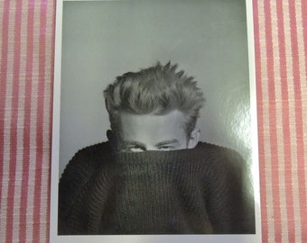 Vintage Photographic Postcard Of James Dean By Phil Stern