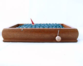 nautical kinetic sailboat automaton, wood boat sculpture, nautical decor, small wooden box