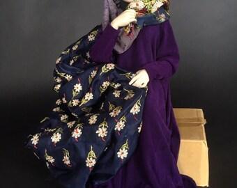 Brigitte Deval  Art Doll Sculpture, 'Refugee'