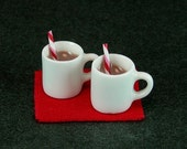 Hot Cocoa Set with Peppermint Sticks (1:12th Scale)