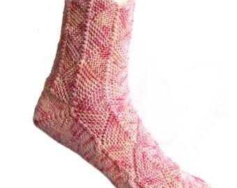Fairytale socks Pink, size EU 42 - 43/UK 10/US 12