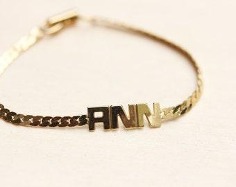 Ann Name Bracelet, Vintage Name Bracelet, Name Bracelet, Ann Bracelet