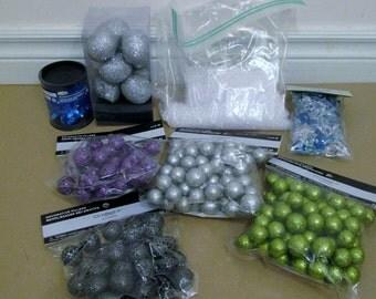 Decorative Fillers Lots Jewels Balls Gems Skulls