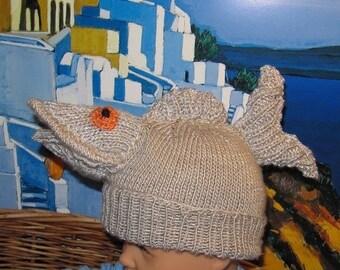 50% OFF SALE Digital file pdf download knitting pattern-Something Fishy Fish Beanie Hat  pdf knitting pattern - madmonkeyknits
