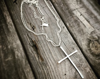 Sterling Silver Cross Necklace Handmade Jewelry Wild Prairie Silver