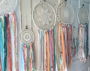 "Dream Catcher in Gypsy Tribal style.  Dreamcatcher for Room Decor, Wedding, Shower.  CUSTOM colors TOO 12"" handmade dream catcher Decoration"