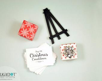 Christmas Countdown Calendar with Easel