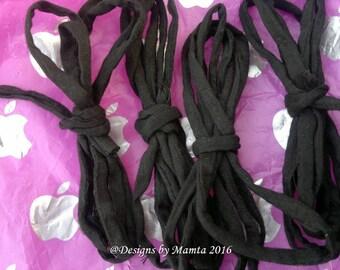 Black Dupioni Silk Cord For Jewelry, Handmade Silk String, Silk Cording, Thick & Thin Cord, Thin Silk Fabric Cord, 5mm Gray Fabric Silk Cord