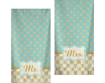 Custom Personalized Mr and Mrs Beach Towel, Color and Personalization of your choice