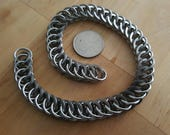 """Squared Steel Wallet Chain, 12"""""""