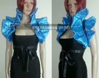 Mardi gras Anime Cosplay High Drama Burlesque Shiny Collar Bolero shoulder wrap