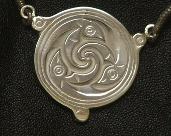 CELTIC TARA DETAIL Sterling Silver Necklace Ready to Ship