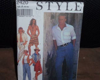 Style 2420 Pattern Men's Casual Pants and Shorts  Size 30-39  New - Uncut