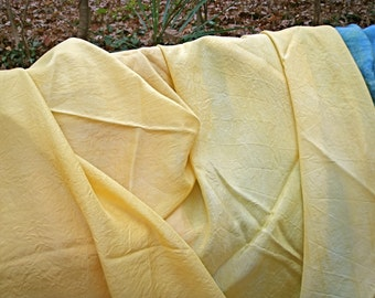 Golden Yellow Play Silk--44 by 38 Inches--8 Momme Habotai Fabric--Plant Dyed--Seasonal Table
