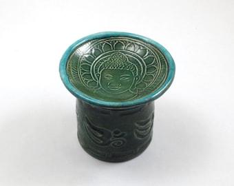 Aromatherapy Diffuser Buddha Aum Essential Oil Handmade Ceramic Pottery