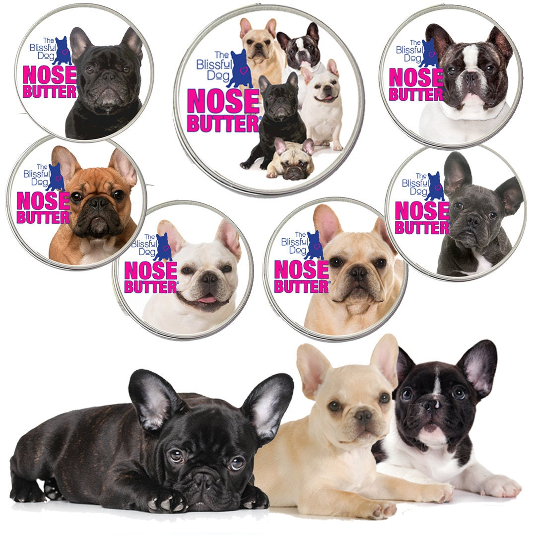 Scrapbook paper dogs - French Bulldog Original Nose Butter Handcrafted All Natural Treatment For Dry Frenchie Dog Noses 1 Oz Tin Choice Seven Frenchie Labels