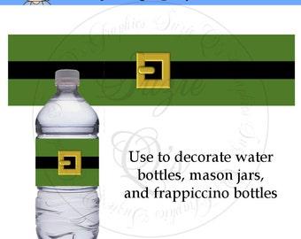 Elf Water Bottle labels - Dgital Printable - Immediate Download