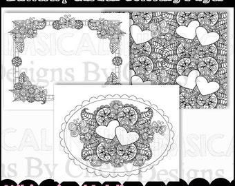 Butterfly Garden Coloring Pages  - Immediate Download