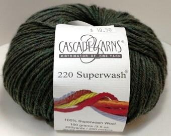 Cascade, Superwash, Wool, Worsted, Heather Green, 867
