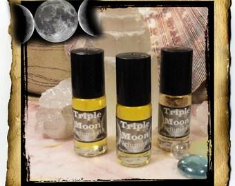 Triple Moon Oil - Organic handcrafted ritual perfume, .75 oz roll-on