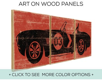 Customizable Vintage Race Car Decor - Perfect For A Race Car Themed Room - Car Design #3