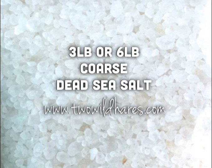 DEAD SEA Salt, Coarse Grain, Remineralizing, Natural Salt from Israel