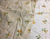 Vintage yellow floral pillowcase set