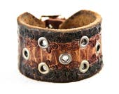 Distressed Leather Jewelry Vintage Bracelet Cuff
