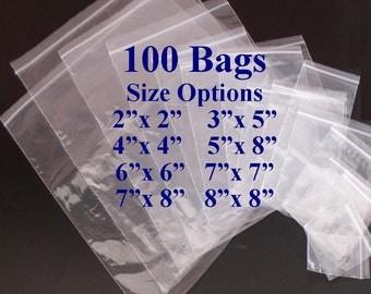 Clear Plastic Bags, Ziplock Bags, Plastic Baggies, Reclosable Poly Bags, 2x2 Bags, 3x5 Bags, 4x4 Bags, 5x8 Bags 6x6 Bags, 7x7 Bags, 8x8